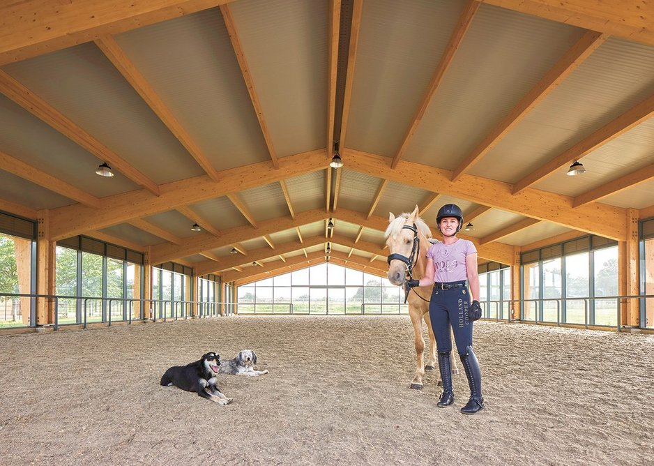 The building is used by the family and dressage riders including one specialising in nervous horses.