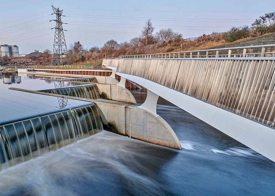 2019 commended: Knostrop Weir Bridge. Knight Architects with Mott MacDonald for Leeds City Council/ Environment Agency.