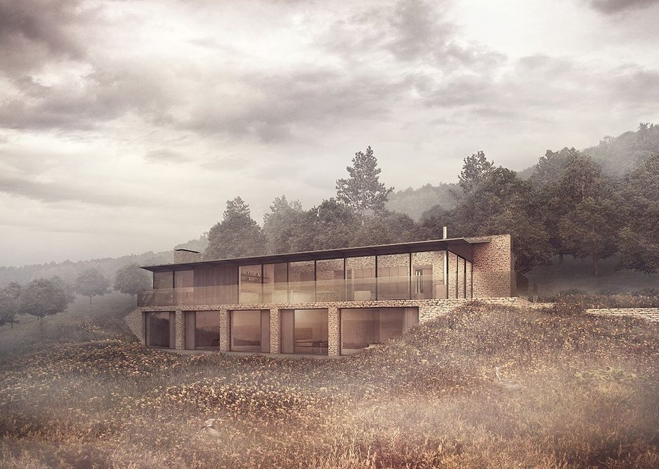 Designed by ArkleBoyce, Cuckoo Wood is a new family home under construction at Wharfedale Valley, West Yorkshire. The self-build home is due to complete this summer.
