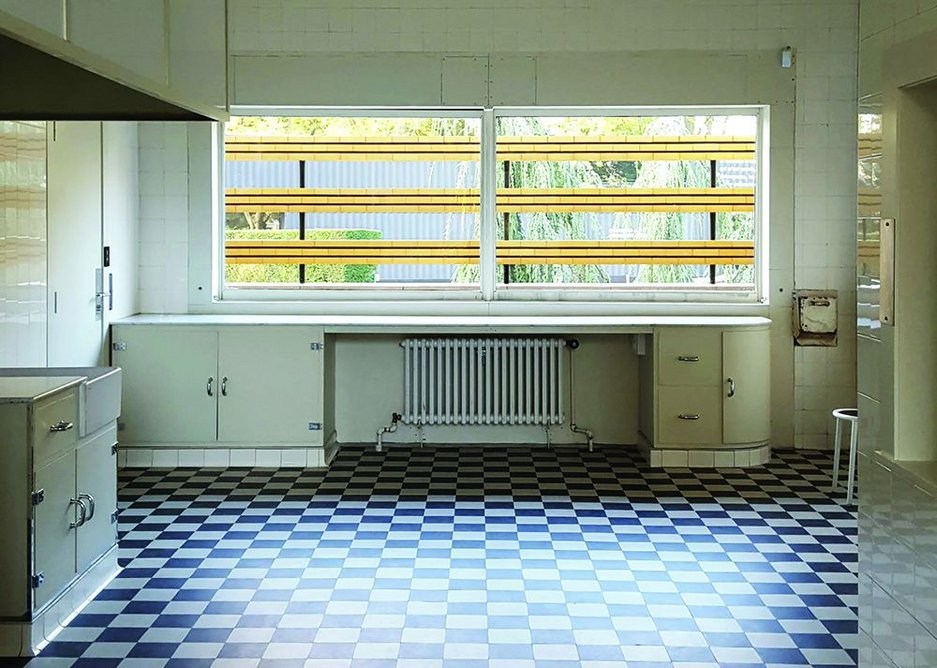 The kitchen, a large open and airy space with the then latest gadgets.