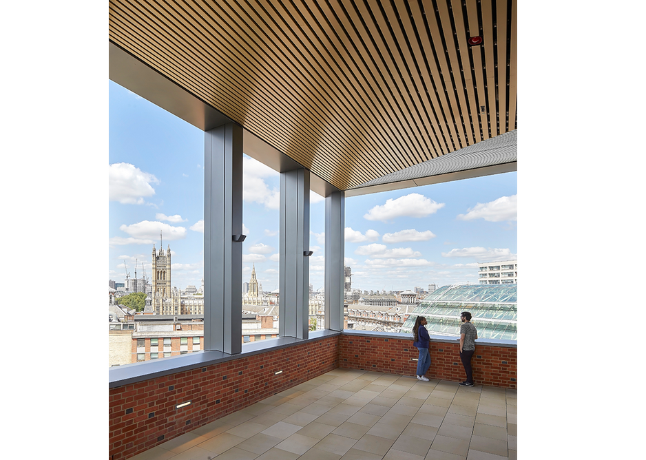 The view from the top with its lofty seminar room. Credit: Hufton + Crow