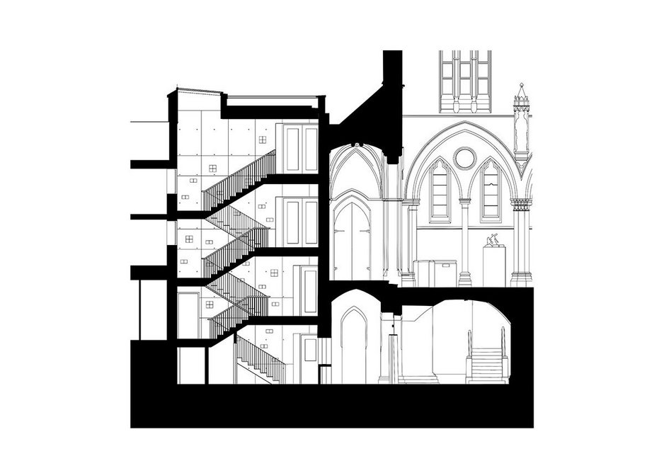Section through extension