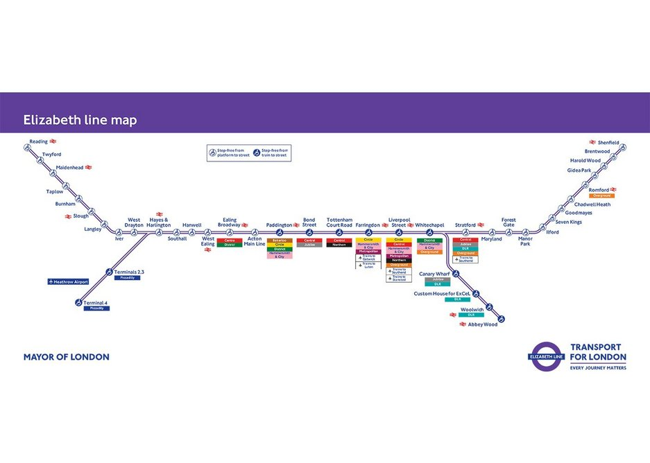 Where you will be travelling - the Elizabeth Line from December 2018.