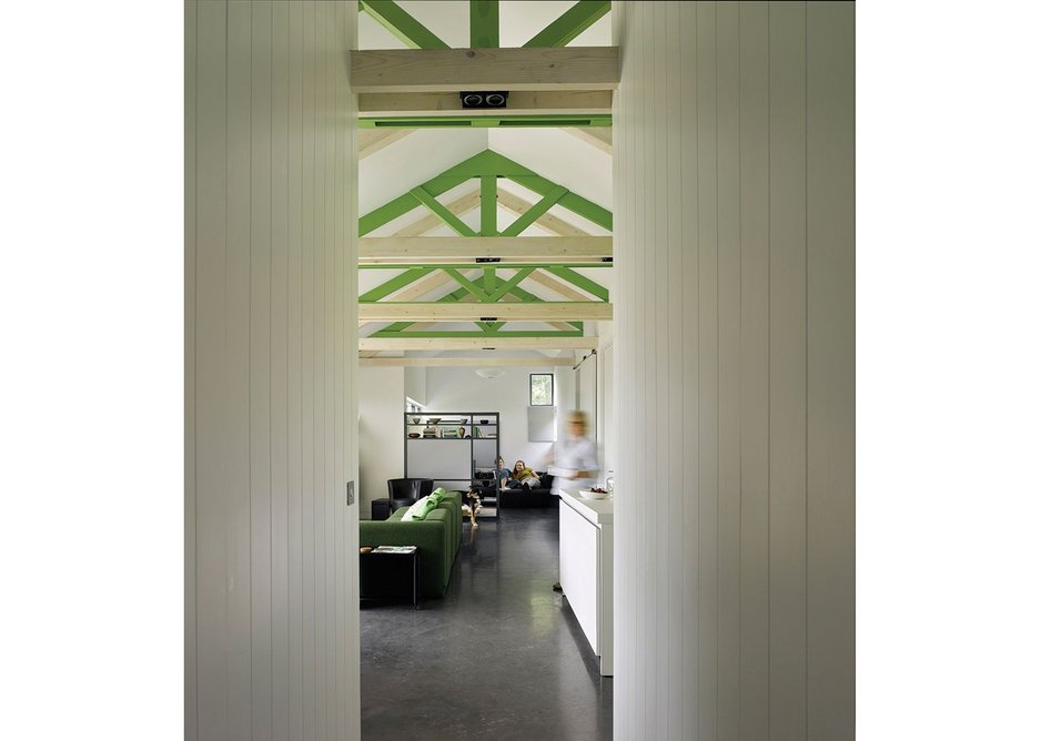 The Chickenshed holiday house, Monmouthshire, designed by Hall + Bednarczyk Architects.