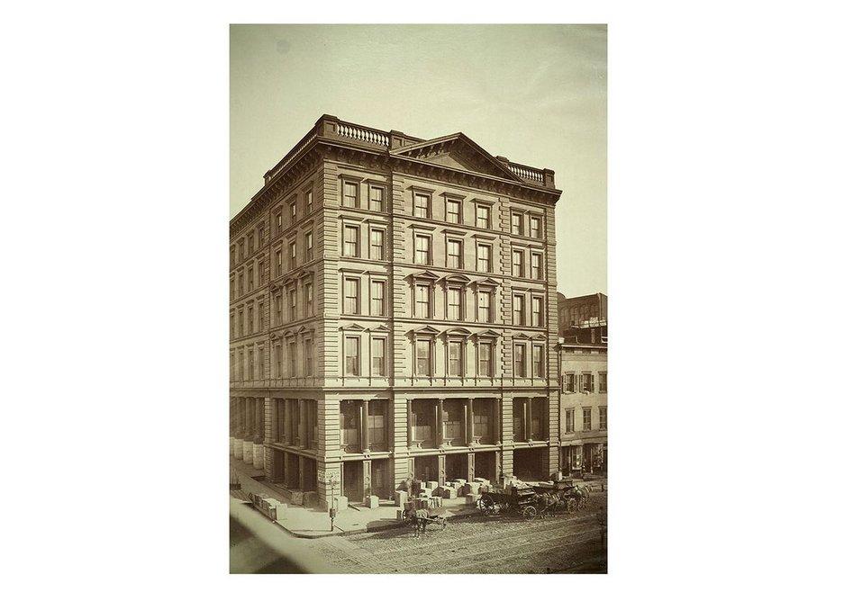 Wholesale store of Claflin Mellen & Co New York. By Samuel Warner 1860.