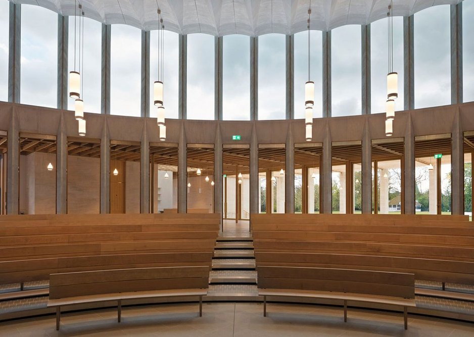 Sultan Nazrin Shah Centre in Oxford, Niall McLaughlin Architects. Wood Awards Education & Public Sector winner 2018.