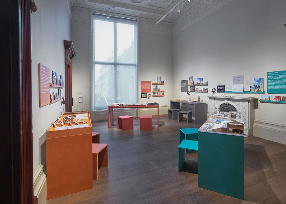 Drawings, models, photographs and materials from TAKA architects in the display