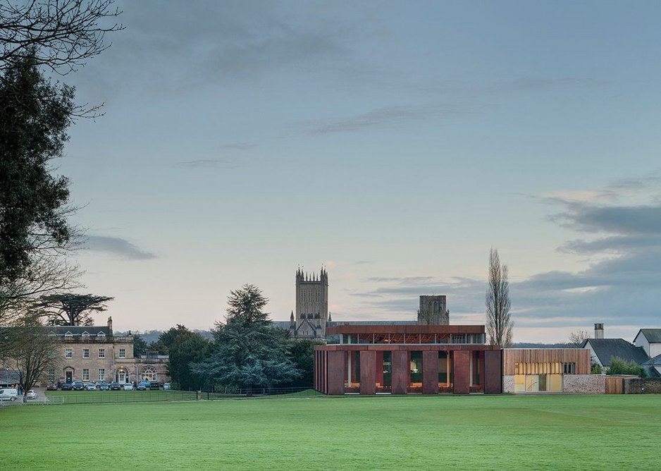New Music Facilities for Wells Cathedral School, Wells by Eric Parry Architects.
