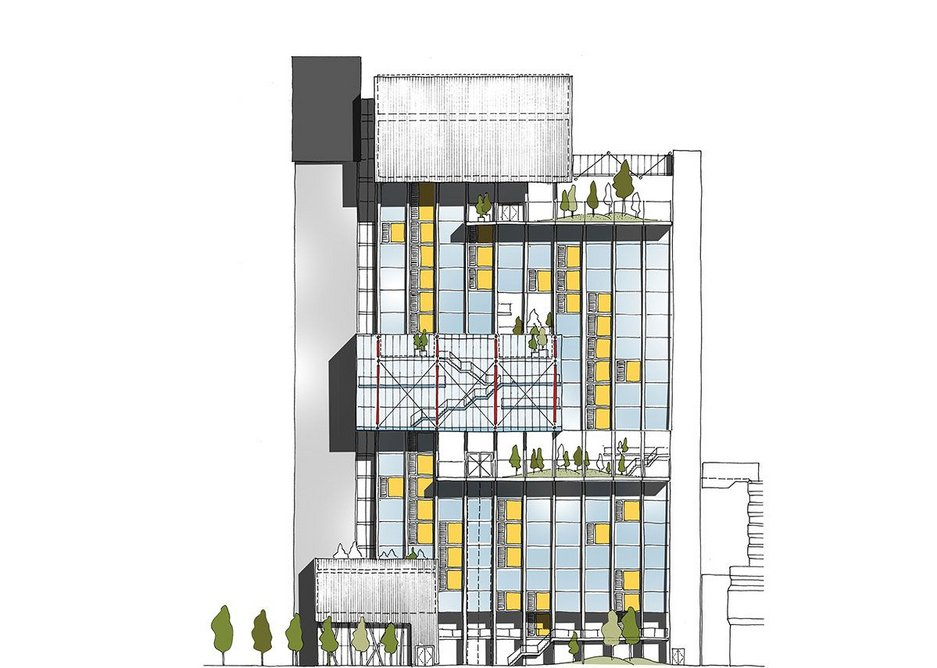 Architecture Initiative's feasibility study for converting an existing office building into a school.