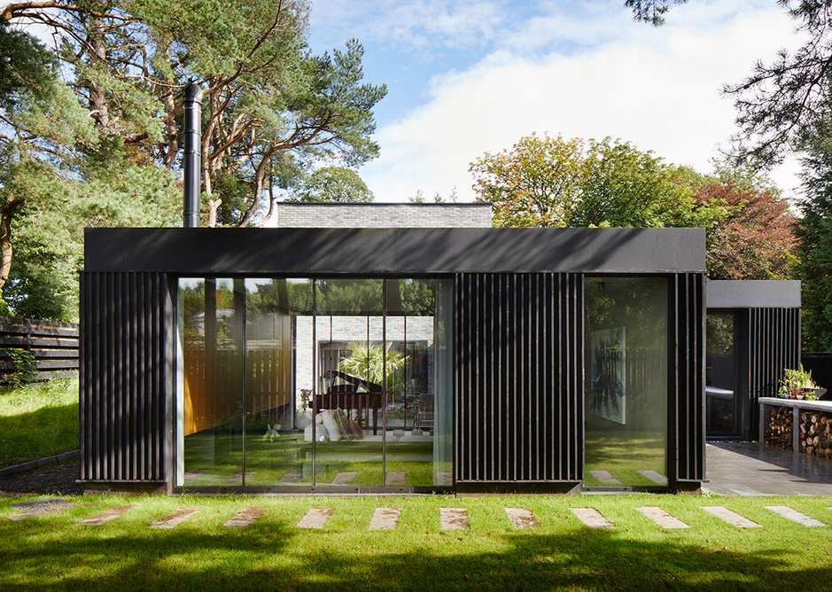 Bearsden House on Glasgow's north-west edge displays the simple material palette that characterises the firm's output.