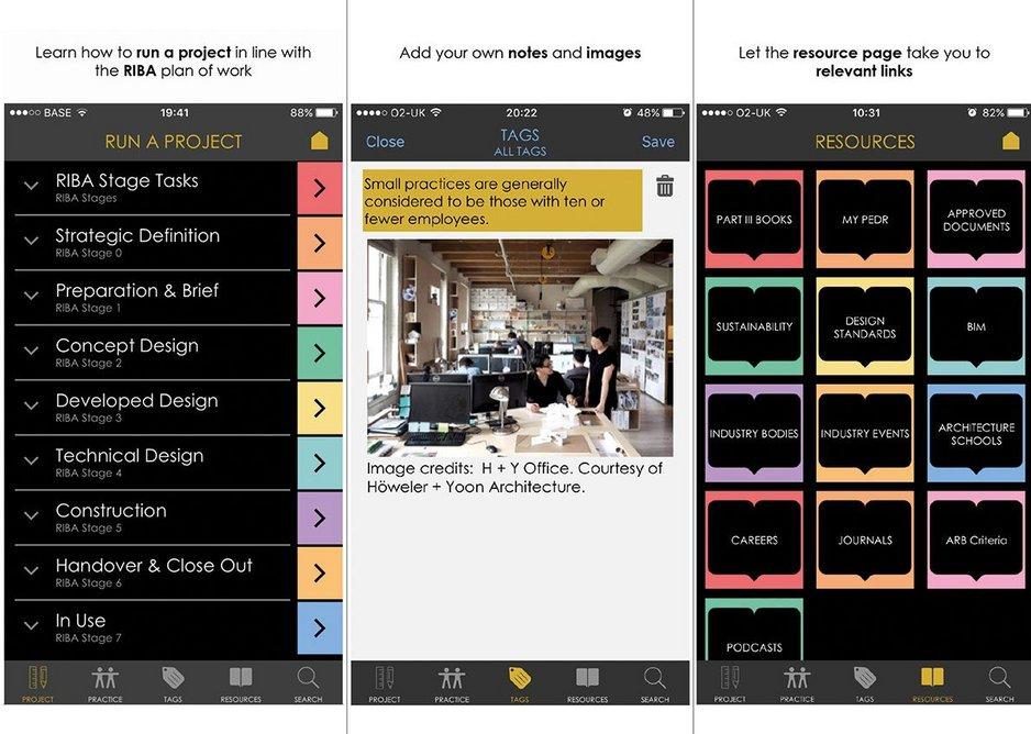 Screen shot of Tara Gbolade's MyPart3 App.