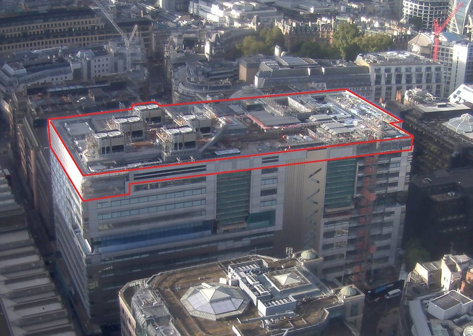 The scope of 5 Broadgate's roof.