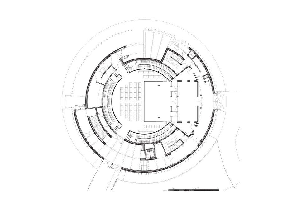 Ground floor plan of theatre