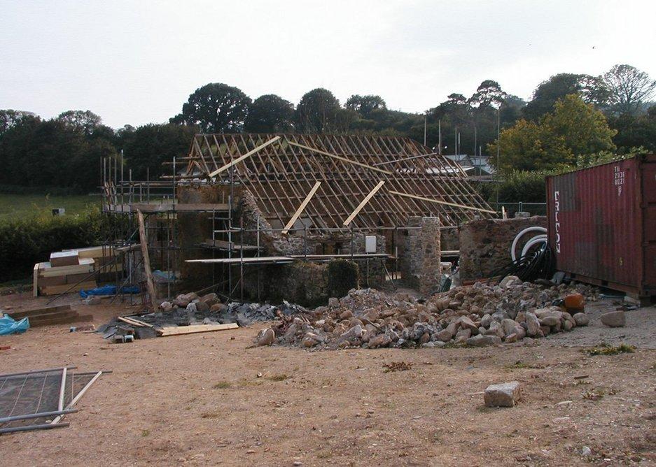 Rebuilding the barns.