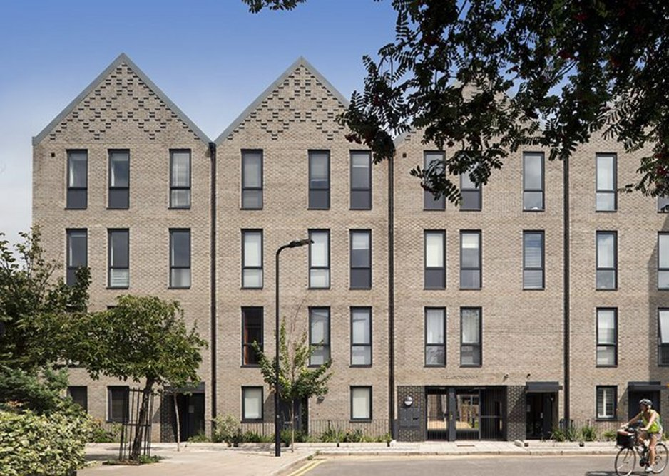 Michelmersh's Floren Pollux brick at King Edward's Road, Hackney. Architects Hawkins\Brown. Shortlisted Hackney Design Awards 2020 - People's Choice Award and Young People's Choice Award.