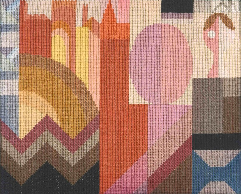 Embroidery by Sophie Taeuber-Arp, circa 1920. Private collection, on loan to the Fondation Arp, Clamart, France