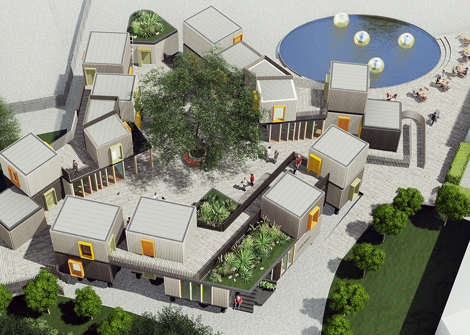 The environmental sustainability of the design approach for this outdoor activity centre in Marlow  is a key aspect of fundraising for the project, which includes on site renewables and a bolted timber construction.