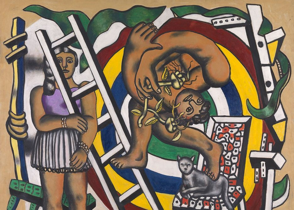 The Acrobat and his Partner 1948 by Fernand Léger, 1881-1955. Tate. Purchased 1980.