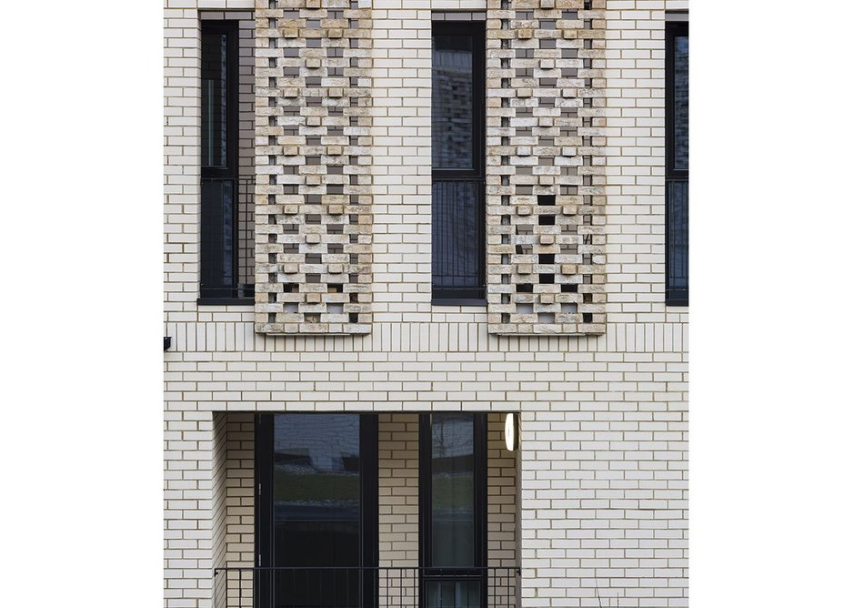 Lattice brick screen detail.