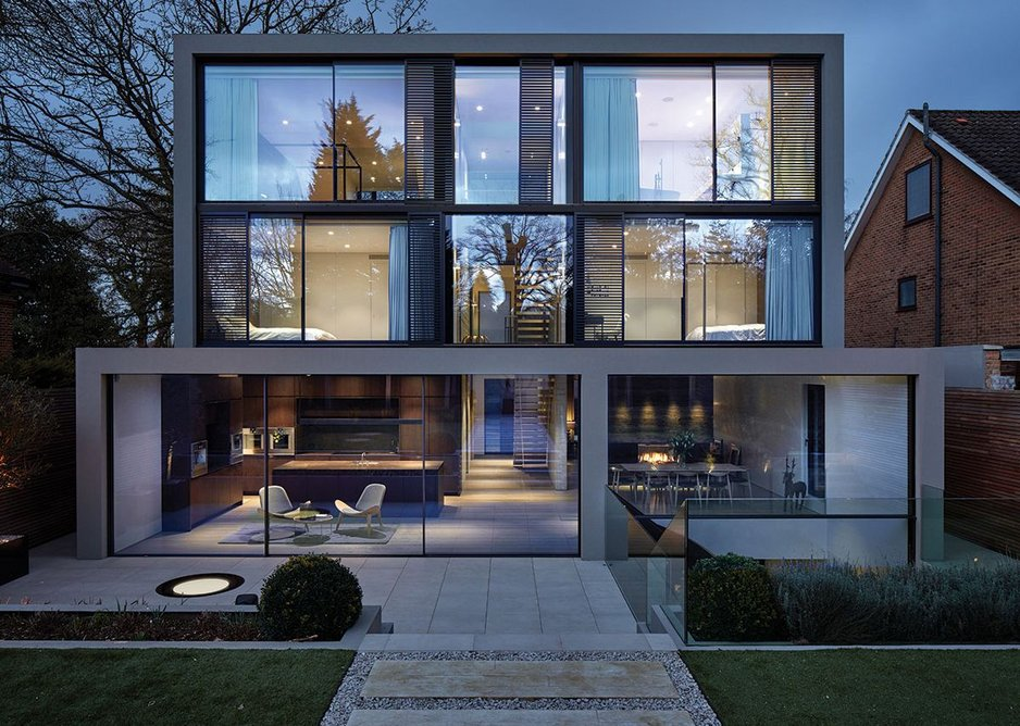 Behind is a full-on and unashamed contemporary elevation.
