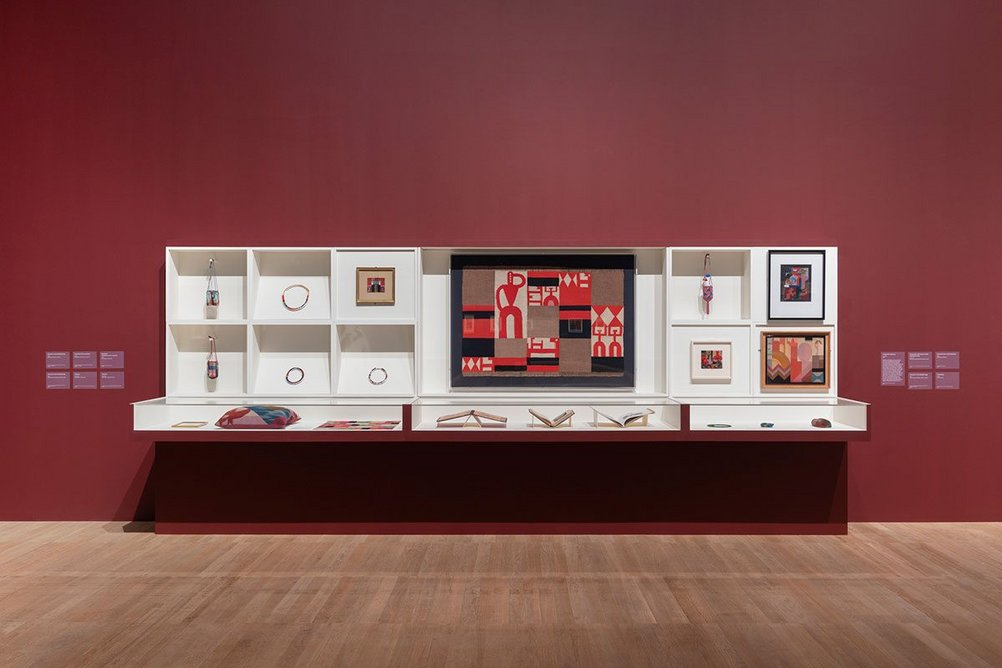 Installation image of the exhibition Sophie Taeuber-Arp.