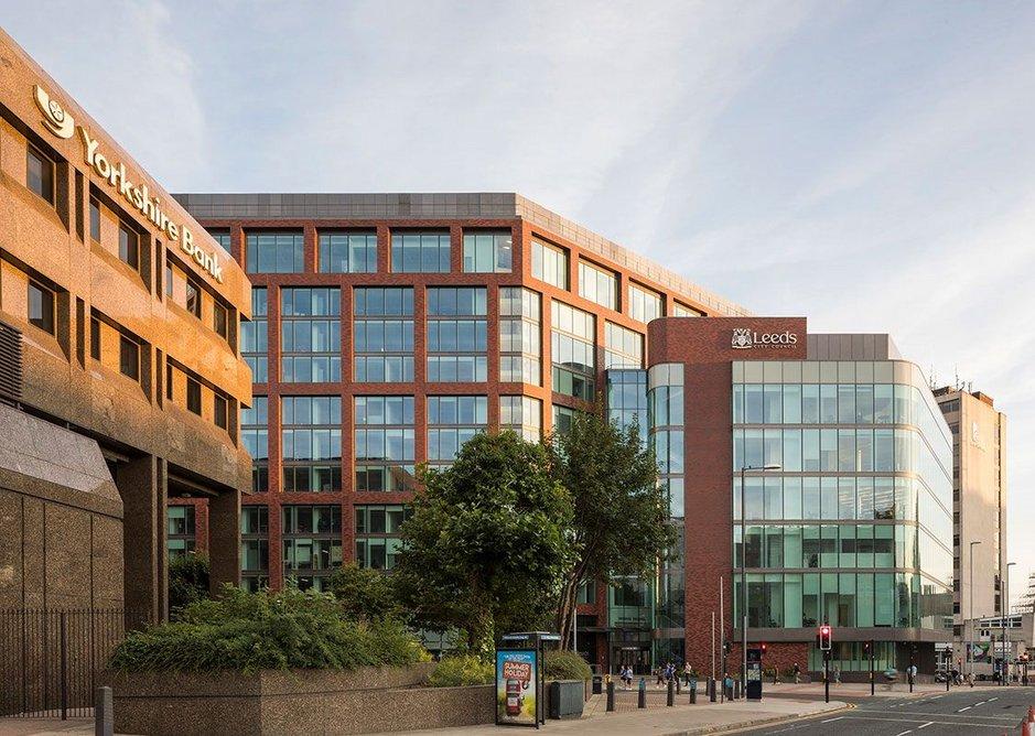 The new spacious atrium. Merrion House, Leeds, BDP, RIBA Regional Award 2019.