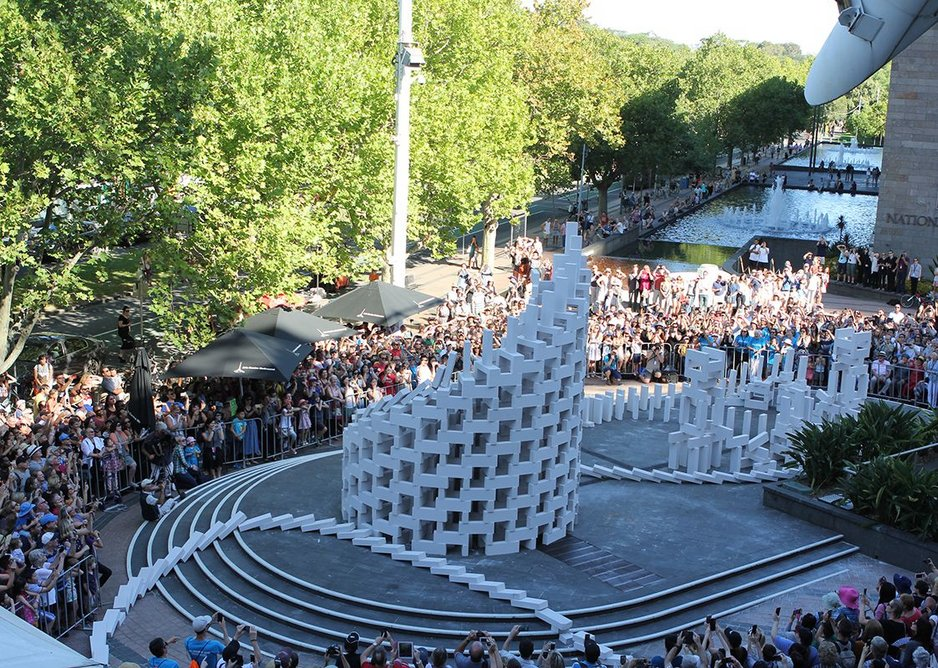 Station House Opera will continue its Dominoes series for London's Burning. Previous installations include Melbourne in February this year.