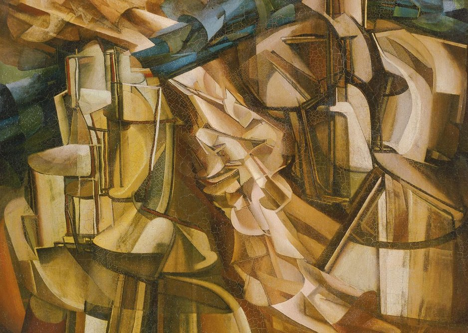 A Bilbao dead ringer? King and Queen Surrounded by Swift Nudes, Marcel Duchamp, 1912.