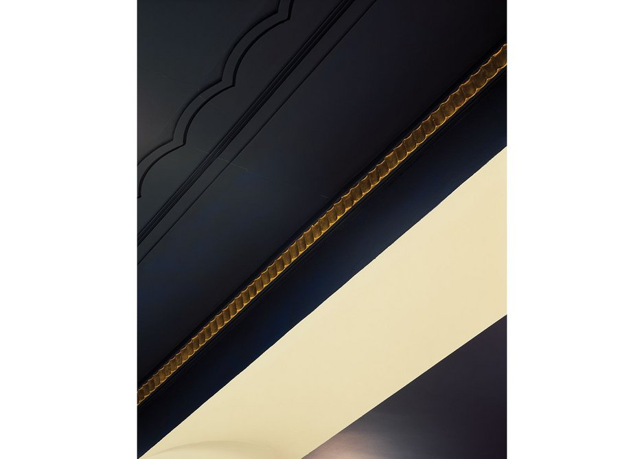 The picked out detail of the mouldings is kept to an elegant modern minimum.