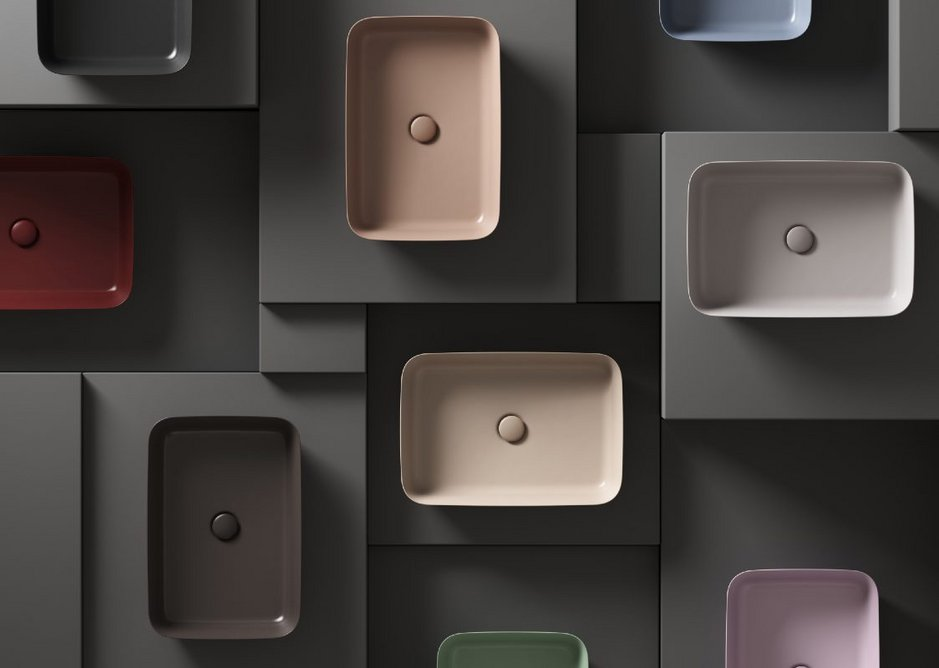 Ipalyss Vessel washbasins by Robin Levien. Ten new ceramic colours bring a sense of emotion to bathroom interiors. Some shades update historical Ideal Standard designs with a contemporary finish, others are new and have been designed to complement modern materials.