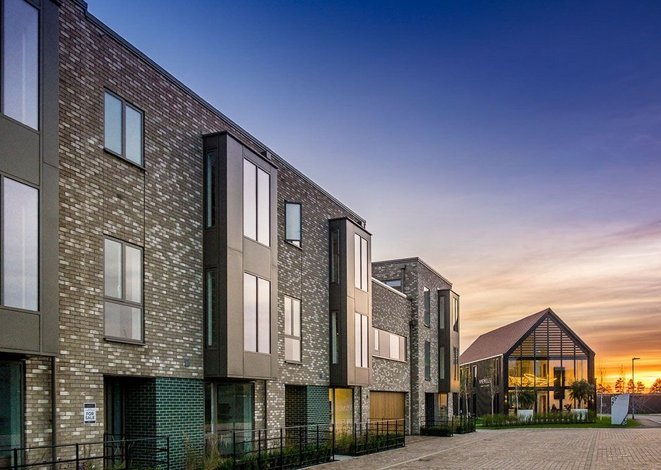 Velfac composite windows and doors were specified at the award-winning Ninewells residential development, near Cambridge. PRP architects.