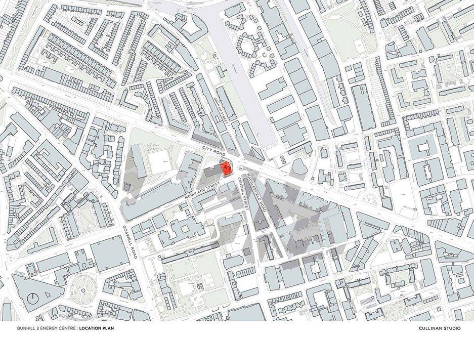 Bunhill 2 Energy Cente location plan. Credit Cullinan Studio