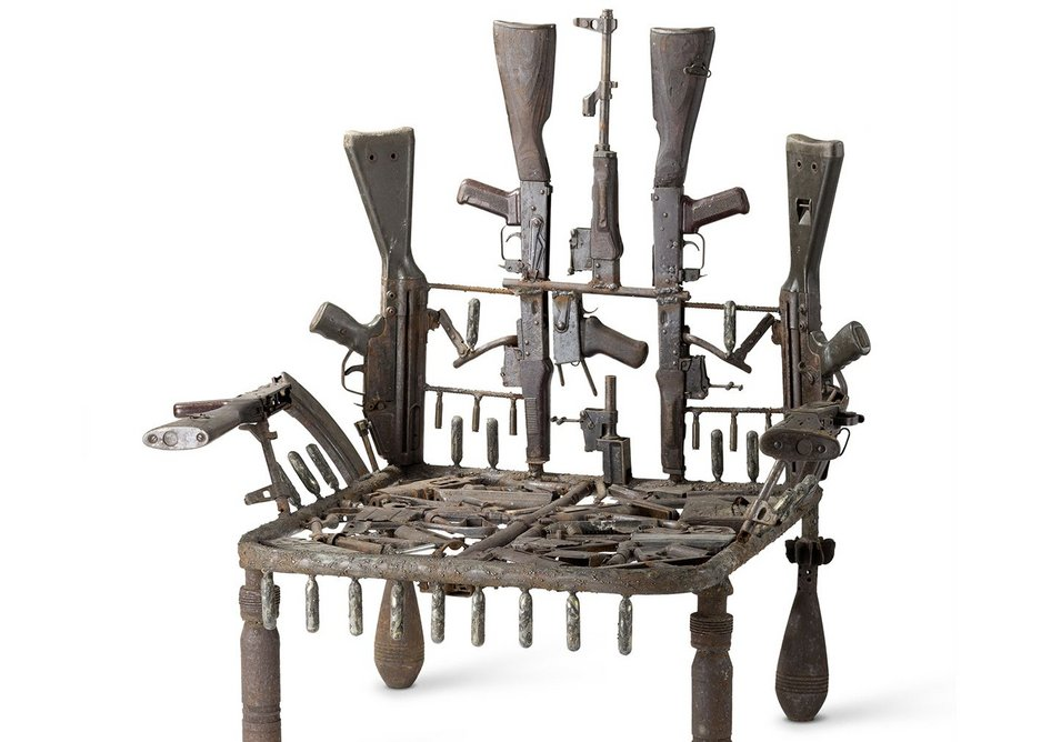 Throne, Gonçalo Mabunda. Vitra Design Museum, Jürgen Hans.