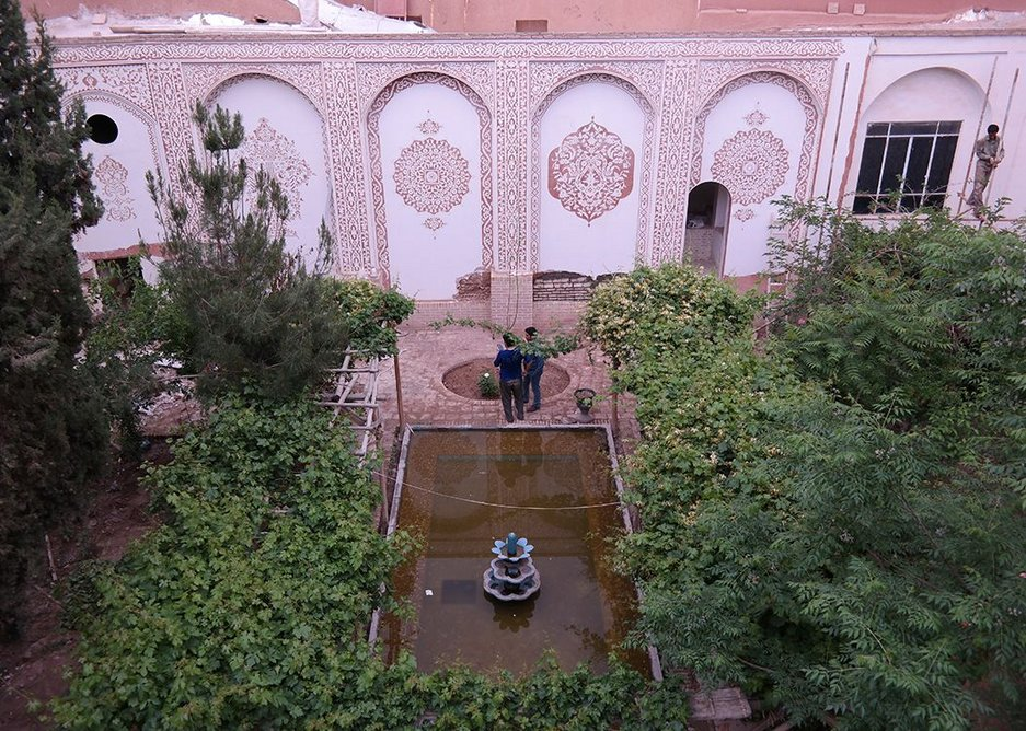 A house in Kashan under restoration, one of many that Tehranis are bringing back into use.