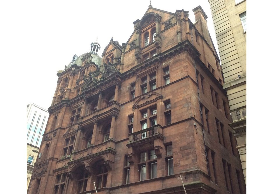 Sun Life Insurance Building, Glasgow. Designed by William Leiper in 1889, the building houses Leiper Art Gallery, the venue for the Leiper exhibition.