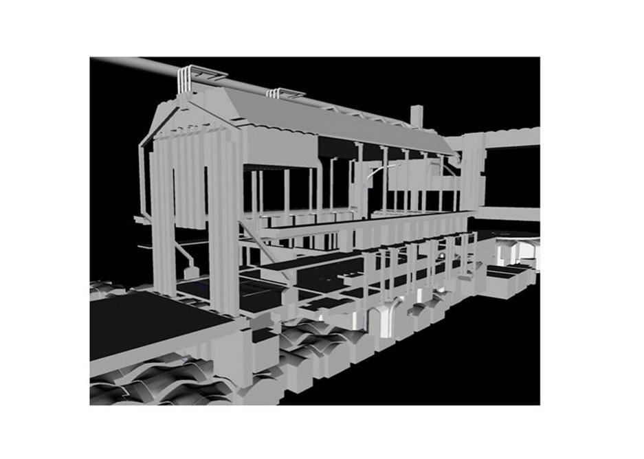 BIM model, showing ventilation system in House of Lords.