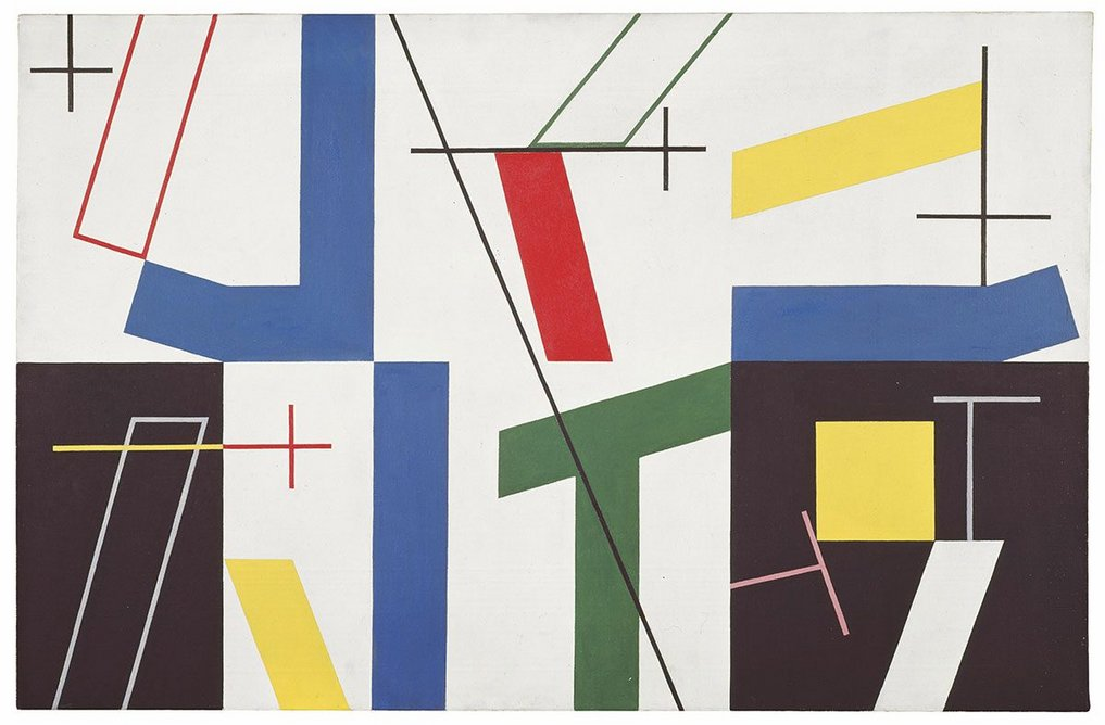 Six Spaces with Four Small Crosses by Sophie Taeuber-Arp, 1932. Kunstmuseum Bern. Gift of Marguerite Arp-Hagenbach