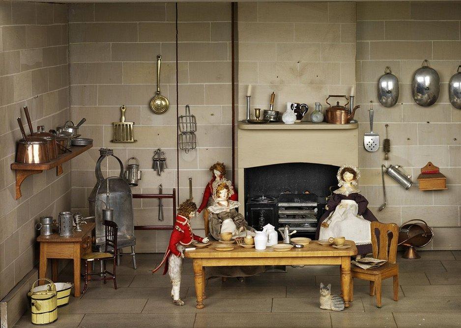 Grand kitchens inside the Killer Cabinet House.