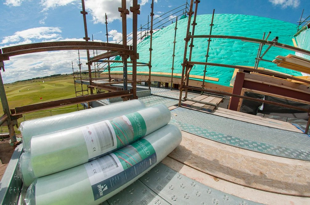 Roofshield roofing membrane provides a secondary barrier to the ingress of rain, wind and snow.