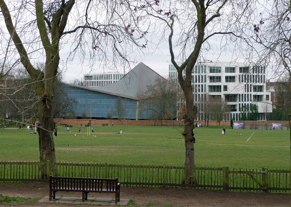 Seen from Holland House the Tent in the Park recedes while new blocks shout their presence.