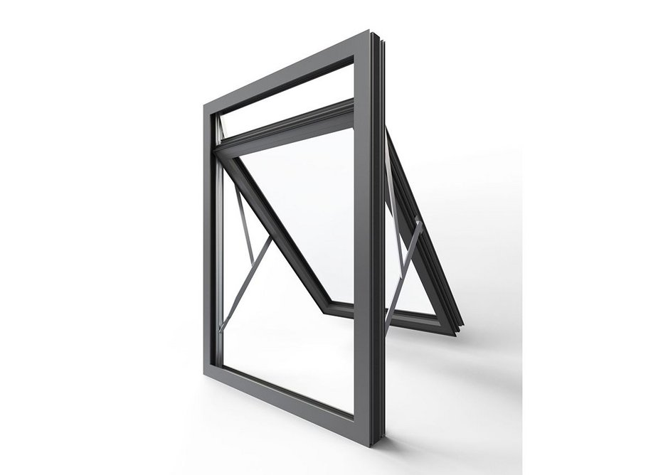 The Pure overswing window is top hung and can fully reverse to allow the outside of the window to be cleaned easily from the inside.