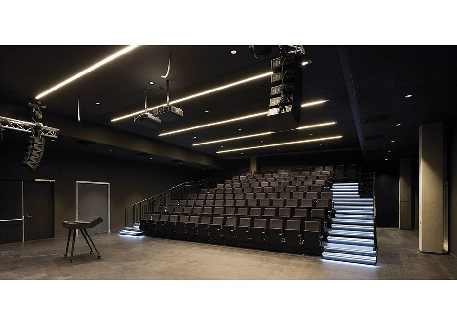 The intermittently-used auditorium is one of the spaces with its own air handling plant.