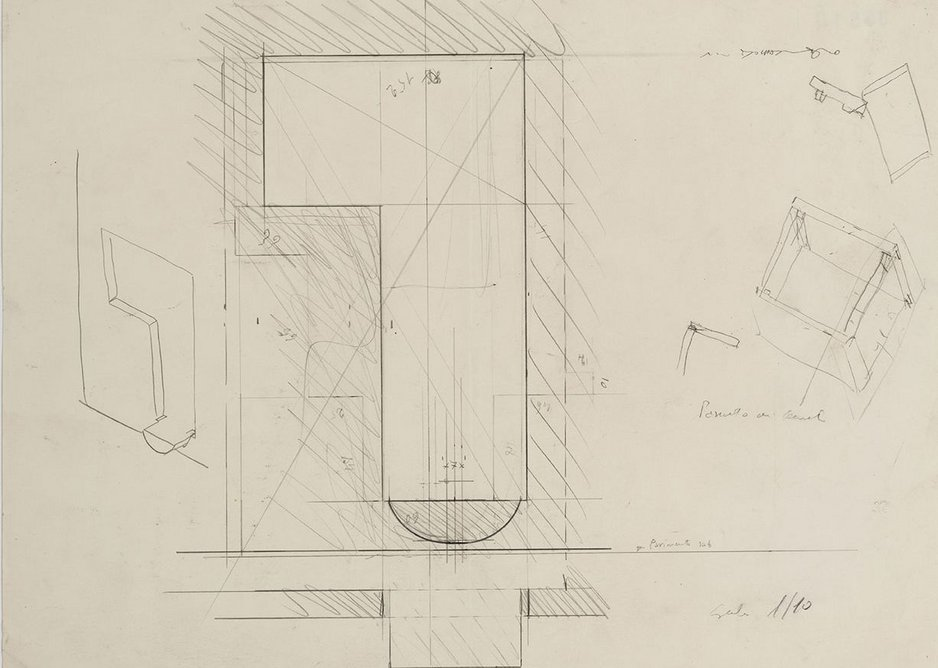 Scarpa sketch of the entrance niche.