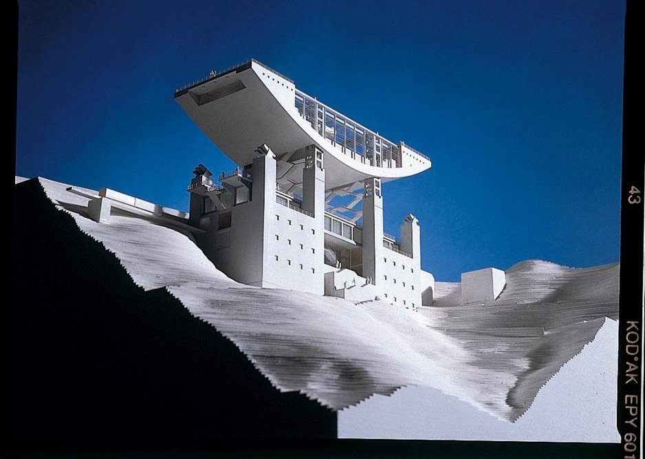 Competition stage model for The Peak, Hong Kong, 1995.