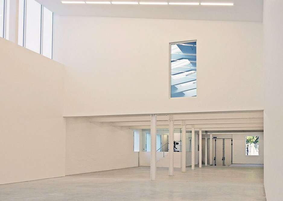 Studio I acts as Kapoor's reception, meeting and testing area at ground level. Above is his dedicated painting space.