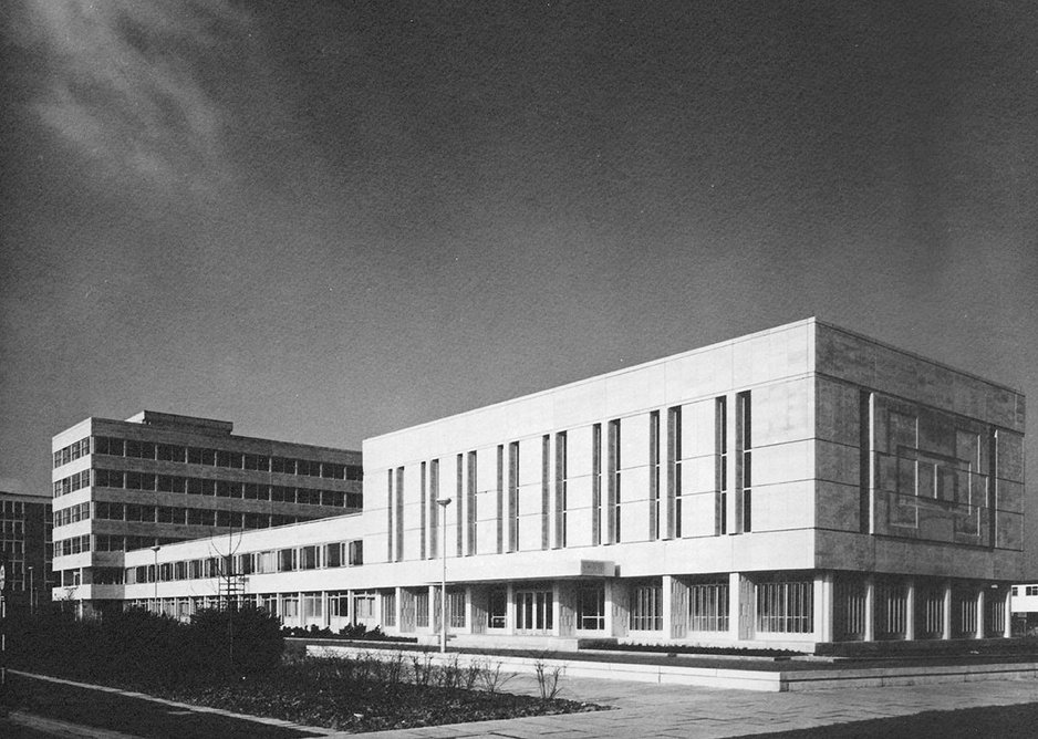 Clendinning designed Crawley town hall while with architects Sir John Brown, A.E Henson and Partners. It was sadly demolished earlier this year.