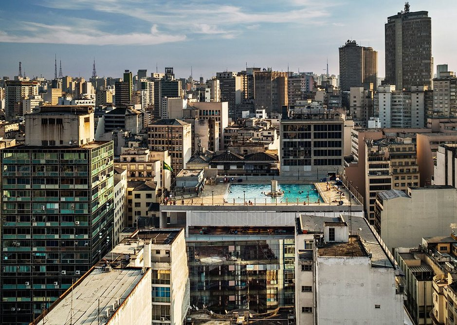SESC 24 de Maio, a non-profit arts and recreation centre designed by Paulo Mendes da Rocha and MMBB Arquitetos in a former office building in Sao Paulo, Brazil.