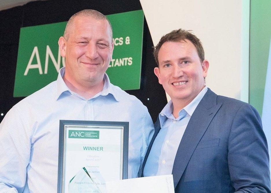 Vibration Award: Philip Hankin of Cole Jarman with Paul Downey of Pliteq