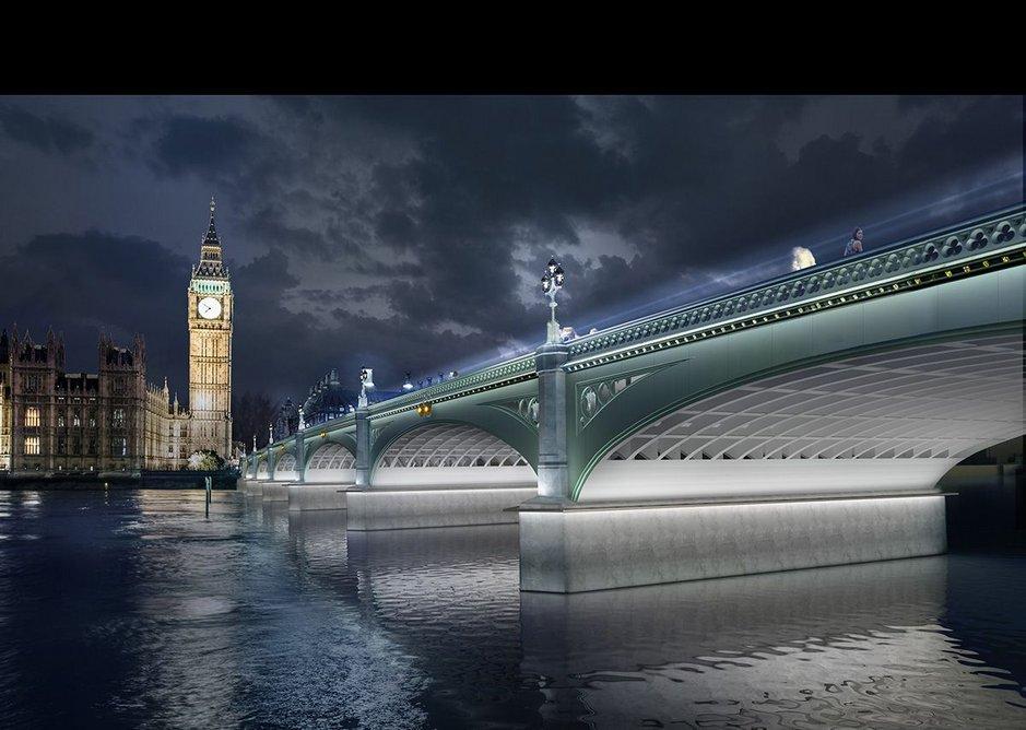 Westminster Bridge – Reawakening Fully Lit.