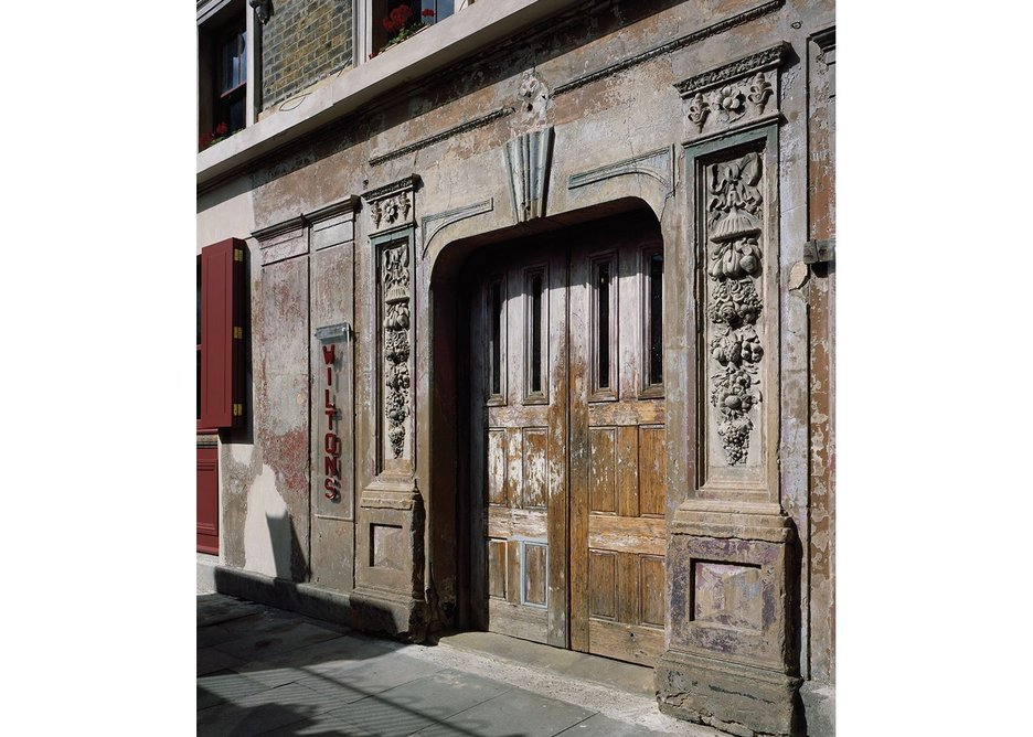 Don't paint that door: Wilton's scarcely grand peeling entrance.